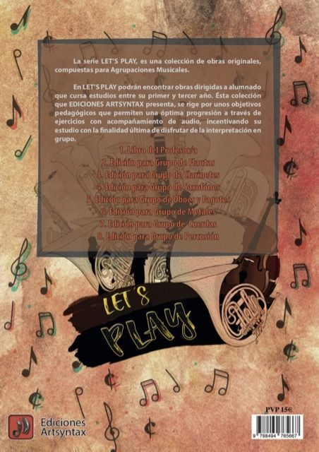 Let's play for oboes and bassoons group back cover